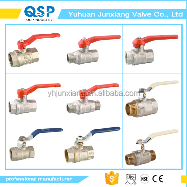 full port NPT female male thread hot forging copper ball steel stem manual handle brass ball valve