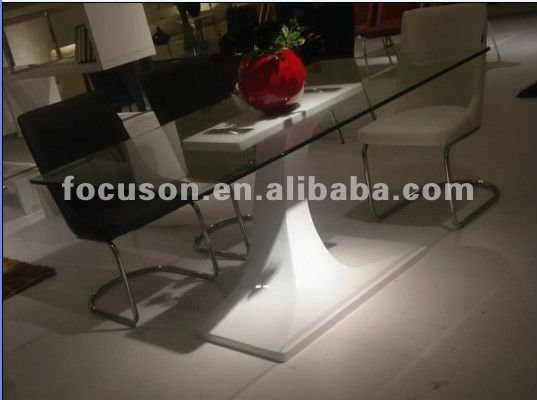 FKS-JW-T1120 glass top dining table