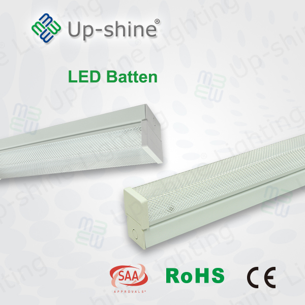 Upshine lighting factory new style led commercial light 50000 hrs long life WW pvc plastic batten with T8 tube in it