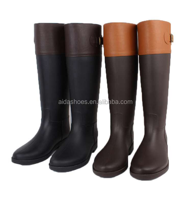 2015 knee high horse riding pvc rain <strong>boots</strong>