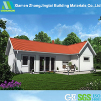 3D design light steel structure prefab house/prefab modular guest house