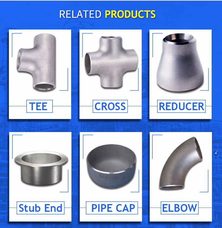 Stainless steel 316/316L  SCH40S butt weld pipe cap