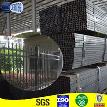 Welded galvanized steel square black pipe/hollow section square bar