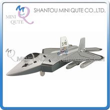 Mini Qute kids Die Cast pull back alloy military camouflage plane Fighter F22 diecast model car educational toy NO.MQ 9803
