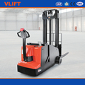 1 ton counterbalance electric stacker with 3 stage 4.5m full free mast