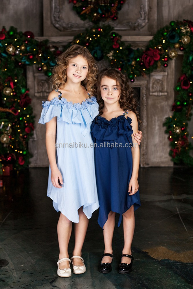 New Promotion formal girls autumn smocked dress for kids