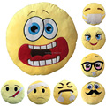 Whole Custom Made Cartoon Round Plush Emoji Pillows