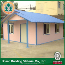 low cost and ready made slope roof prefab house