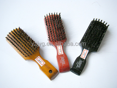 colours cleaning natural boar bristle hair brush