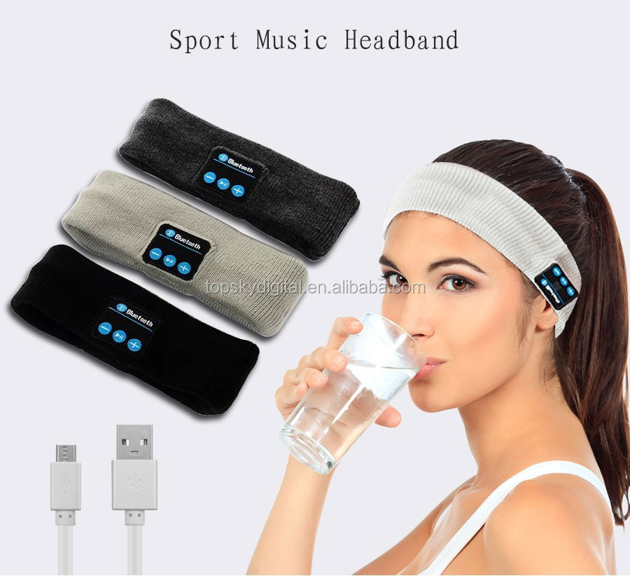 Wireless Bluetooth Headphones Knitted Winter Hat headset Hands-free Call With Mic Mp3 Cap Sport Hats