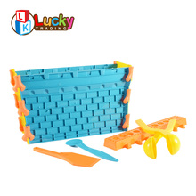 winter plastic play set castle mould snow toys for outdoor