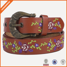 Fashion design Needlepoint Fake Genuine Leather Belt