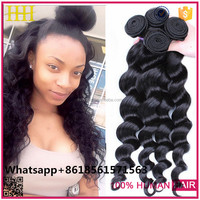 Hot New Products For 2015 Double Drawn Brazilian Natural Hair/Thick End High Quality Human Hair Extension