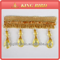 Hot selling striking crystal trimming fringe for curtain