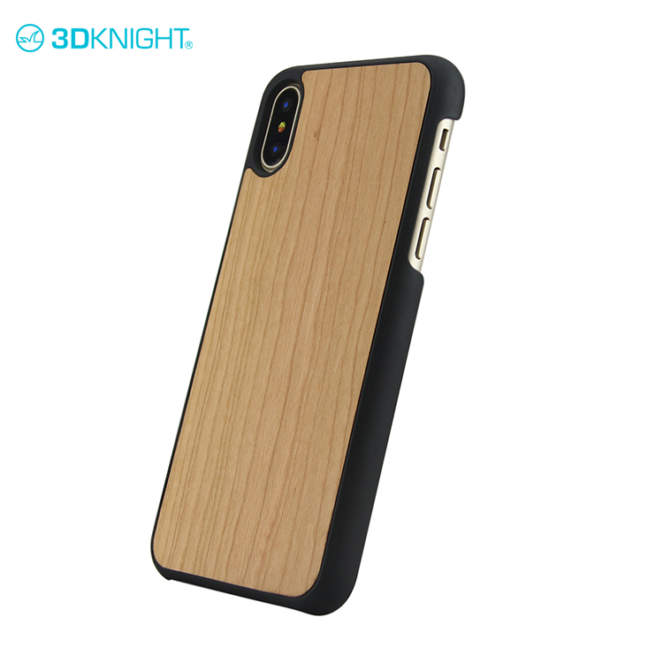 Hot sale bamboo wooden case fori phone x anti radiation phone case laser printer