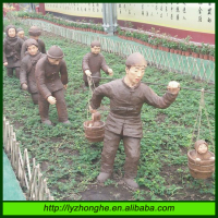 Chinese Style Sculpture Resin Figure in Garden Decoration
