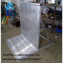 Aluminum Crowd Control Interlocking Barriers for Outdoor Events