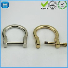Alibaba Wholesale Screw Pin D Rings Removable D Rings