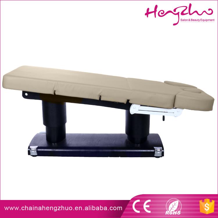 Mobilier commercial hz 3838 base en bois lectrique de massage beaut lit haut de gamme utilis - Lit de massage electrique ...