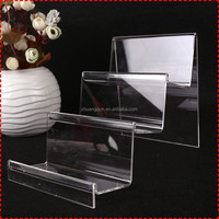 Fast production acrylic display stand for wallets, magnifier display stand