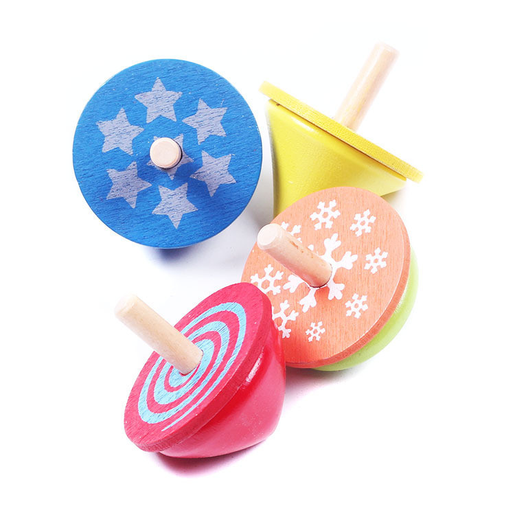 FQ brand high quality best custom new wooden kids toys spinning top
