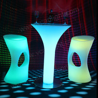 Furniture with leds High Bar Table Lighting Bar Table Sets Acrylic LED Cocktail Bar Table