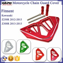 BJ-FSC-KW001 Red Aluminum CNC Motorbike accessoies Chain Guard Cover For Kawasaki Z250R / Z300R