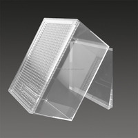 Transparent acrylic chinese bird cage, acrylic display cage, reptile/pet display cage