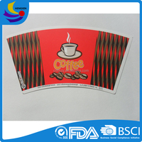 Good Quality Exported Coffee Cup Disposable Paper Sheet Cup Fan