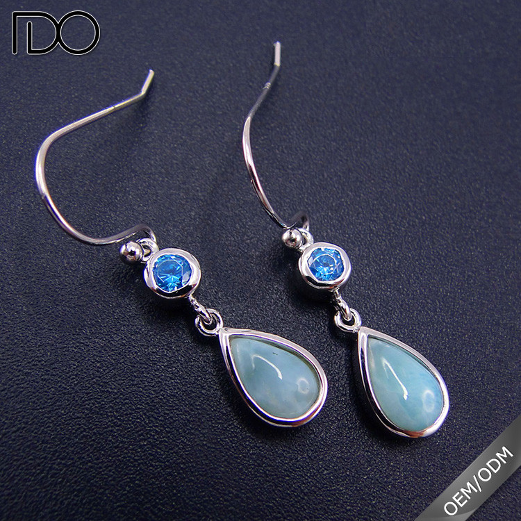 Most fashionable larimar afro earrings