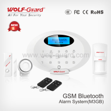 bluetooth app cpmtrol Home security wireless and wired Intelligent GSM Alarm System, With 4 Bands YL-007M3GB