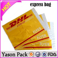 Yason plastic courier envelope slider zipper heat seal mylar bags express bag with pouch courier bags