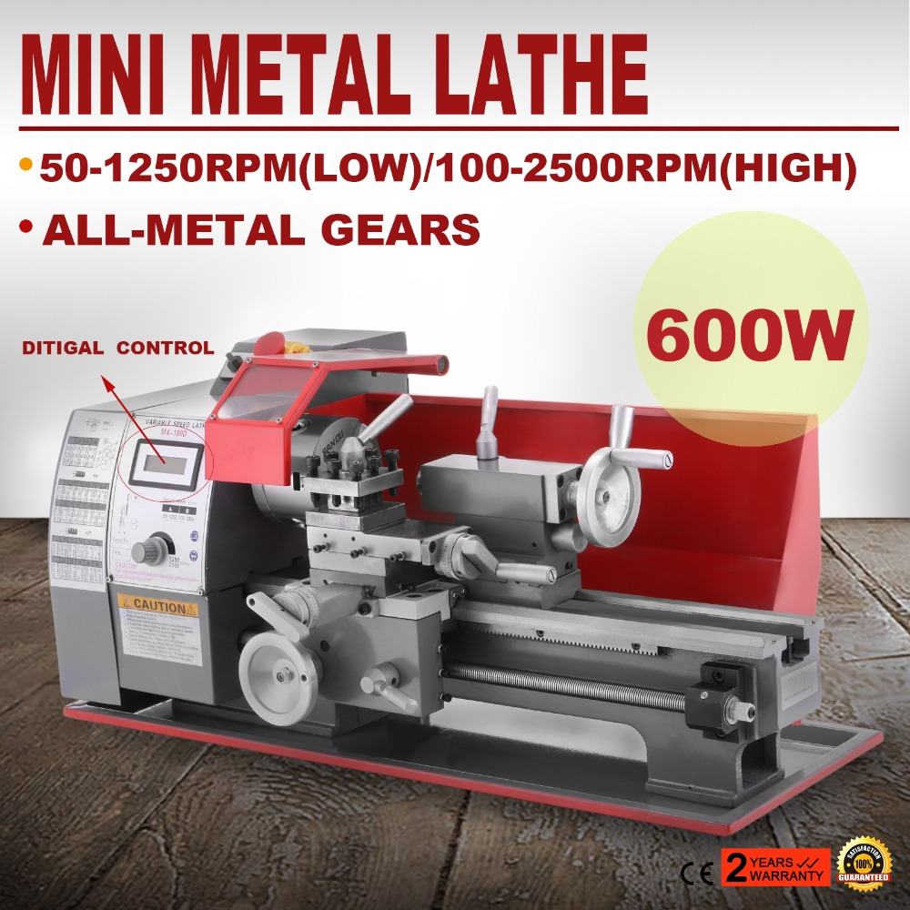 NEWEST 600W Metalworking Processing Precision Mini Metal Lathe with Variable Speed