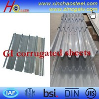 roofing construction materials corrugated galvanized steel sheet