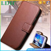 2015 Hot! Genuine Leather Wallet Case For Samsung Galaxy S4 Mini I9190 Stand Insert Card Phone Cover For Galaxy S3 III i9300