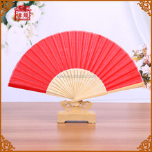 Customizable Chinese Red Silk Fan Dance for wedding favors custom hand fan GYS917- 4