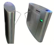 RFID Security Turnstile barrier gate with Glass wings ,Hidden gate with RFID card