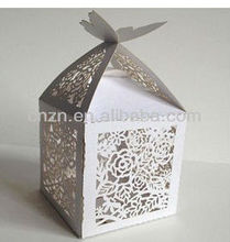 2014 hot sale! laser cut white wedding favour boxes
