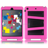 pc silicone case for ipad mini 4,V kickstand cover for iPad mini 4