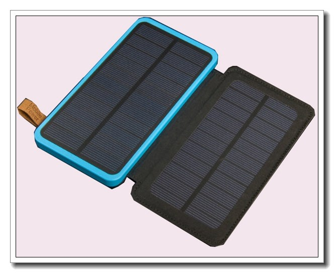 QZD250-2 2017 flexible and folding solar power bank with 8000mah polymer battery