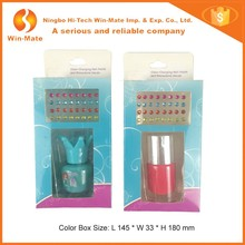 Hot New Color Changing Nail Polish And Rhinestone Decals