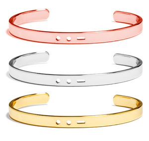 Ladies Bracelets Models Creative Moss Bangle Password Custom Name ID Round Tags Cuff Bracelet Stainless Steel Jewelry