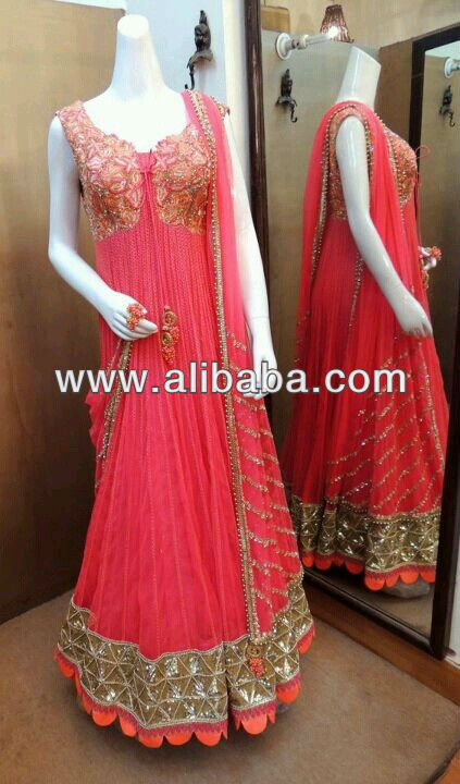 GORGEOUS HAND EMBROIDERED ANARKALI 2013