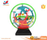 Handheld 3D labyrinth maze magical intellect ball kids balance training educational toy 3d puzzle game