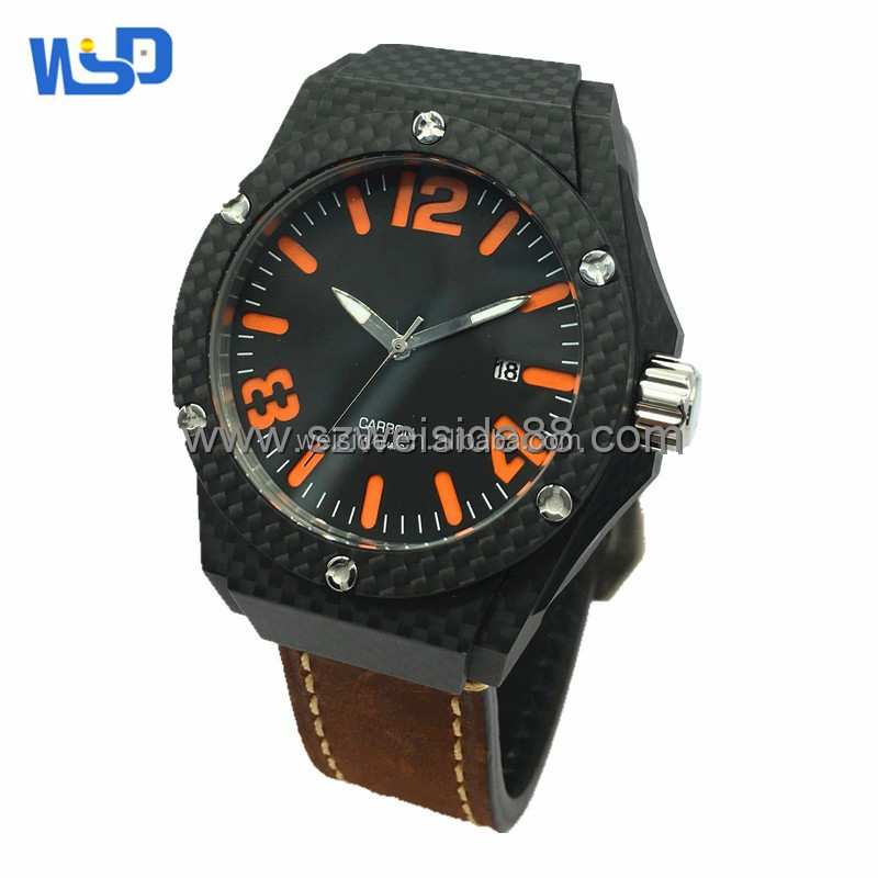 china factory 100% real Carbon fiber watch/watches men/OEM watches for man
