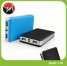 Universal 10000mAh External Battery Charger Dual Port Portable USB Power Bank with LED Indicator