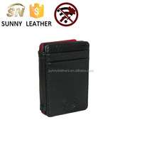 Mens Leather RFID Protected Magic Card Case Wallet