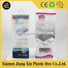 Transparent small clear hanging box cellphone case packaging box