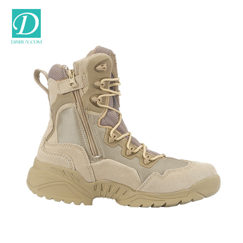 2016 Top Quality Man Military Safety boot With Side Zipper