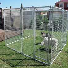 Black Powder Coated Outdoor Welded Wire Mesh Dog Kennel / Dog Run Fence Panel